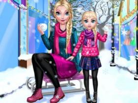 juego mommy elsie winter day