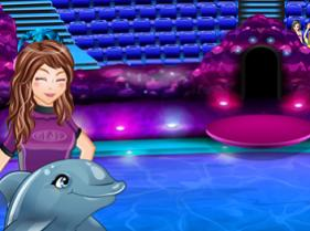 Juego de espectaculo con delfines